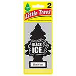 Little Trees 2-Pack Black Ice Carded Air Fresheners - 12 Per Case